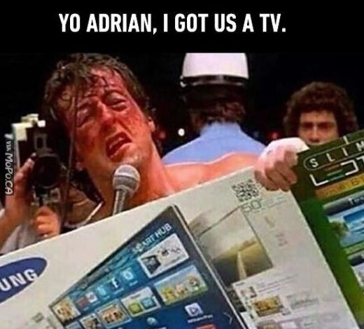 Yo Adrian, I Got us a TV