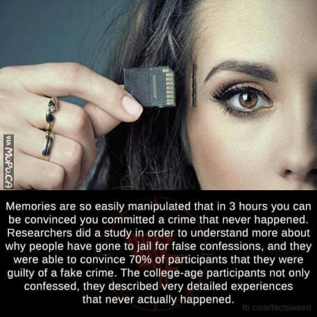 Memories are easily manipulated