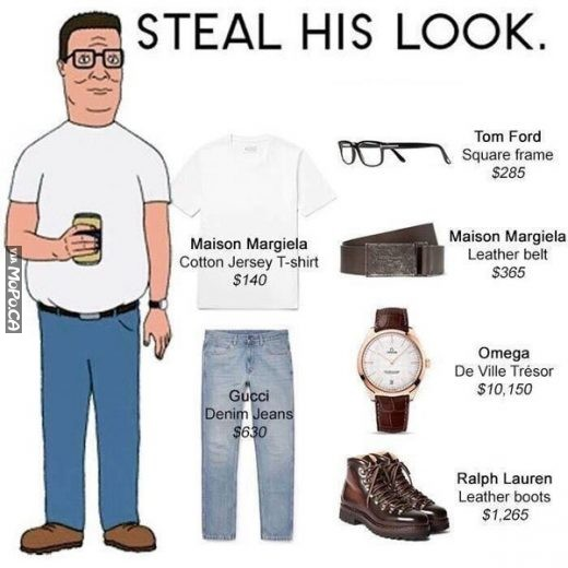 Steal his look