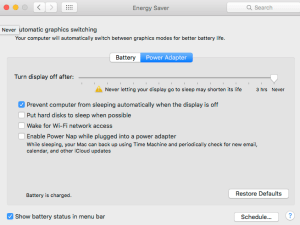 Energy System Settings