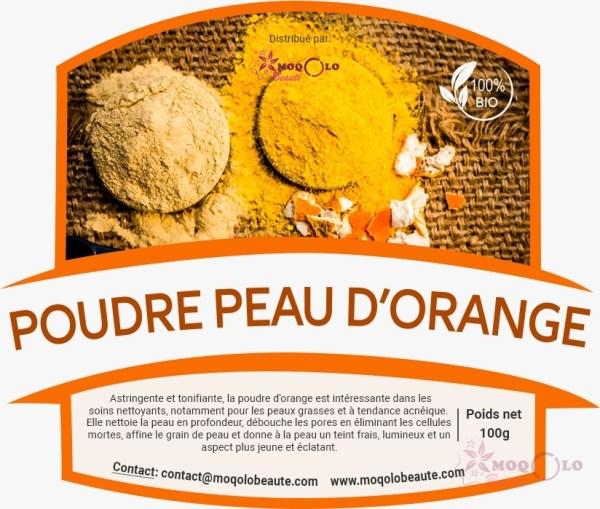 poudre d orange , cheveu , soins capillaires