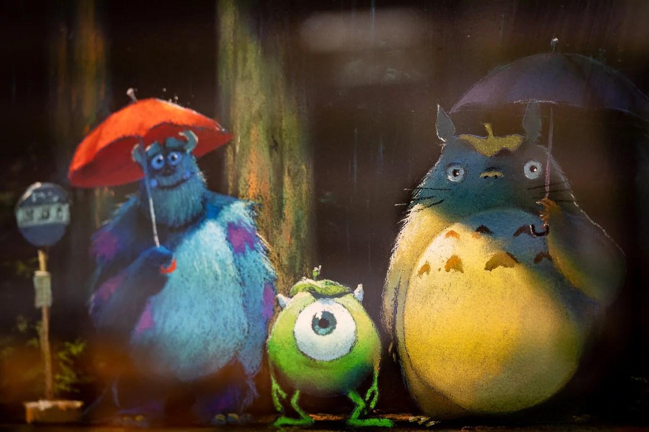 Esta imagen de Pixar y Studio Ghibli causó furor en Internet