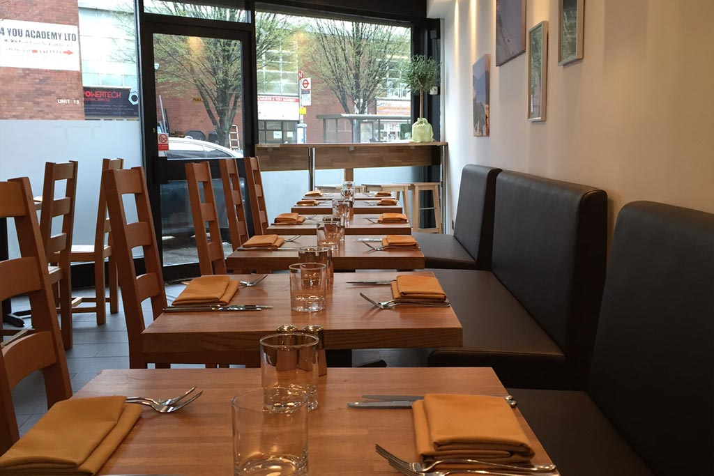 Mora Restaurant tables and seats