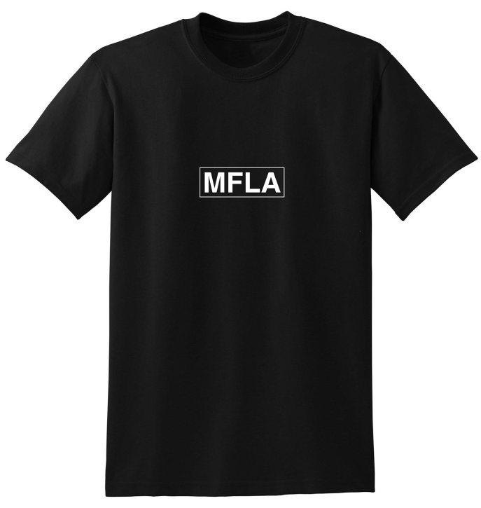 MFLA Morbid Fiber Los Angeles Streetwear Black Box Logo