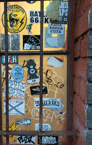 MORBID FIBER Street Art Slap game Stickers
