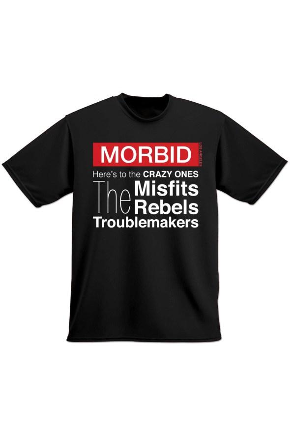 MORBID LA Clothing Streetwear Misfits Rebels Black t-shirt