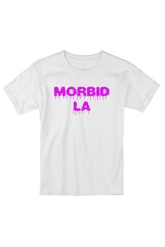 MORBID LA Clothing Streetwear Skater Style White Pink T-Shirt