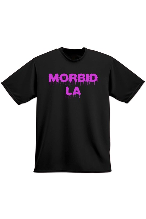 MORBID LA Clothing Streetwear Rocker Style Black Pink TShirt