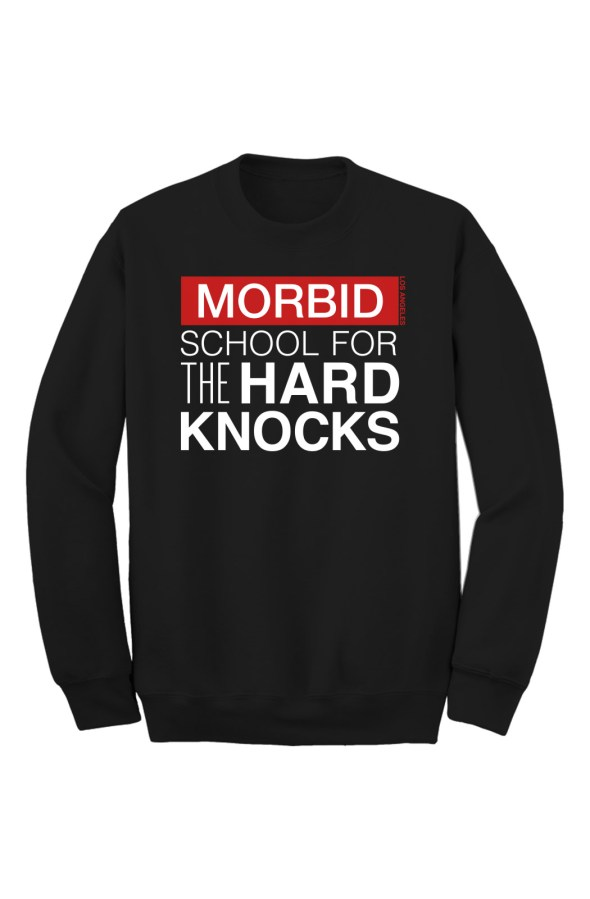 MORBID Los Angeles Clothing Black Hard Knocks Crew Sweater Streetwear