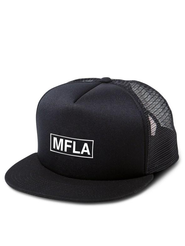 Morbid Fiber Los Angeles Streetwear Box Logo Trucker