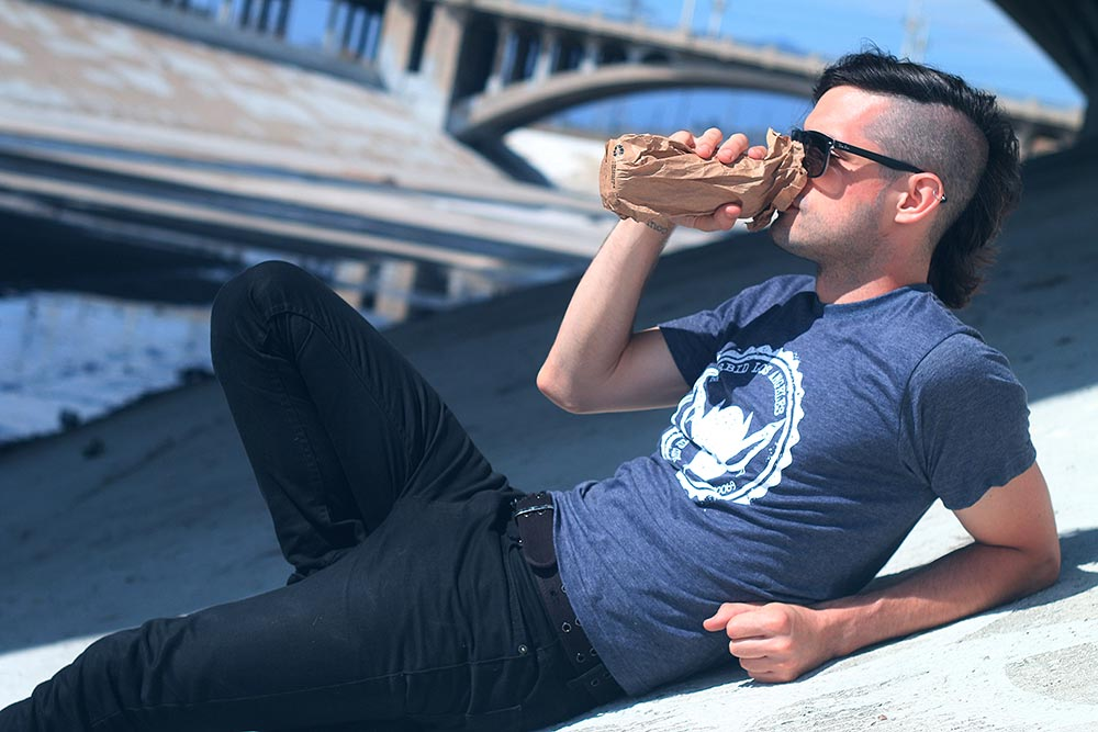 Morbid Fiber Los Angeles Streetwear Grunge IMP T-shirt