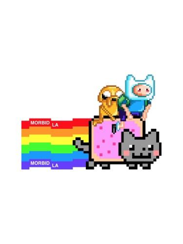 Morbid LA Adventure Time Nayan Cat