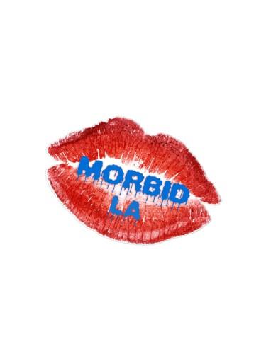 Morbid LA Streetwear Blue Lips Sticker Decals