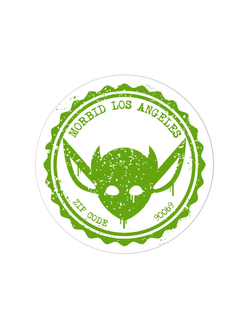 Morbid-Los-Angeles-Streetwear-Green-Grunge-Sticker-Decal