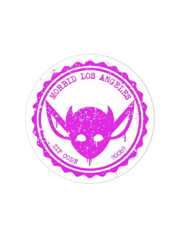 Morbid LA Streetwear Pink Grunge IMP Sticker Decal