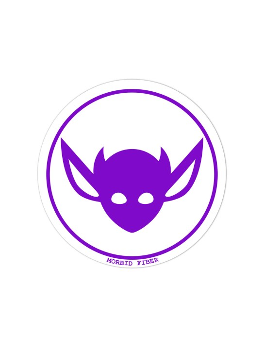 Morbid LA Streetwear Purple IMP Head Sticker Decals