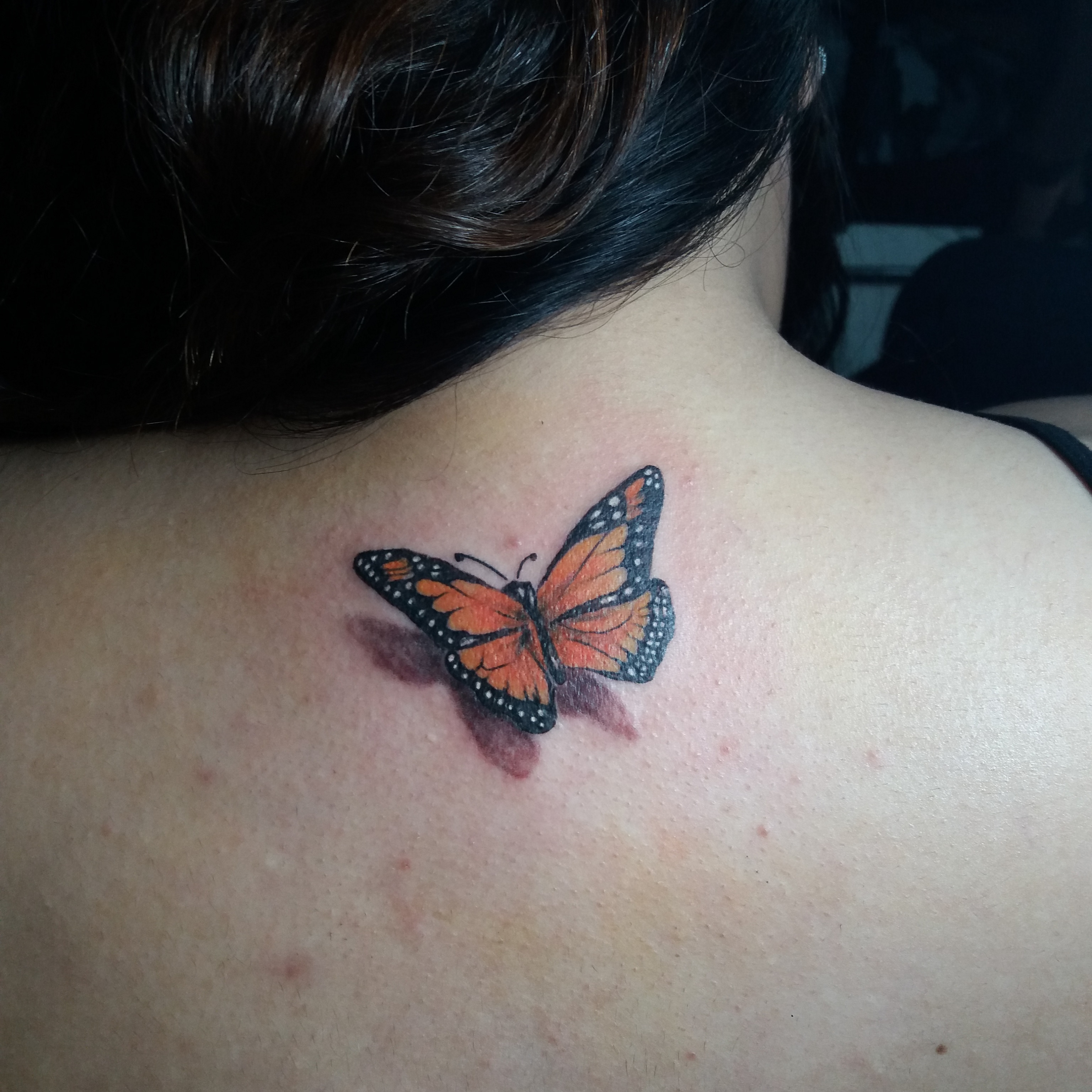 butterfly tattoo for girls. Black Bedroom Furniture Sets. Home Design Ideas