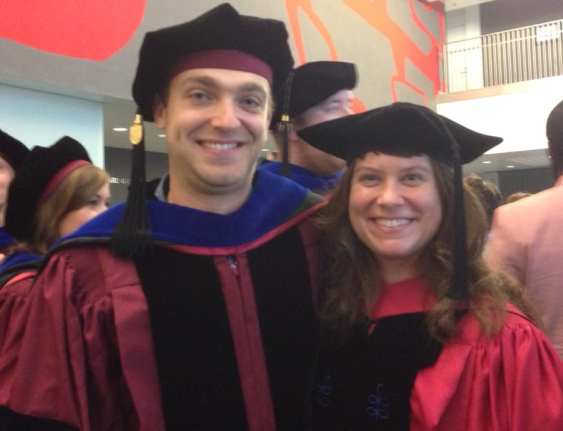 "Dr. Ben Rubin and Dr. Corrie Moreau – UChicago ""hooding"" ceremony – June 2015"