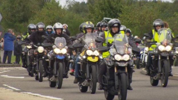 Triumph bikers