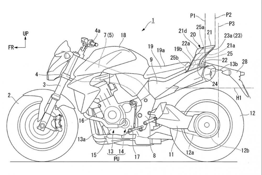 Honda files PATENT for rear unit SPOILER to improve aerodynamics.
