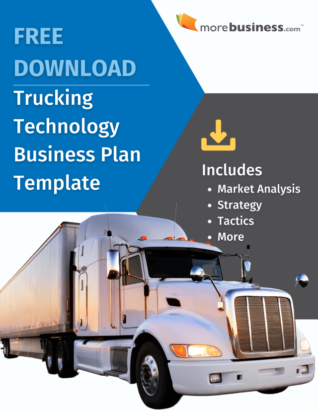 Trucking Technology Business Plan - Free Download  MoreBusiness.com