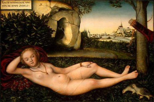 "Lucas Cranach, ""The Nymph of the Spring"", après 1537, Washington, National Gallery of Art © National Gallery, Washington"