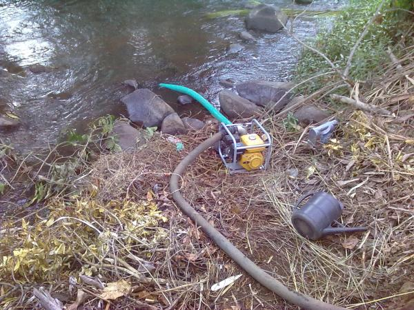 Pumping water from the river