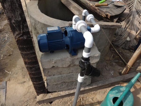 Pumping machine in Agbozume Village