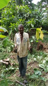 ATSU BABY HUSBAND WITH HOLDING SEEDLINGS TO BE PLANTED