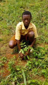 JAMES WITH HIS PLANTED TREE