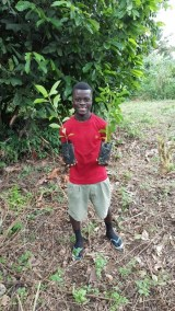 MAXWELL SON HOLDING OFRAM SEEDLINGS