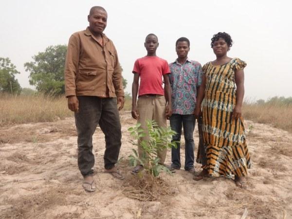 RUBEN KWABLA BORKLO FAMILY WITH PLANTED MAHOGANY