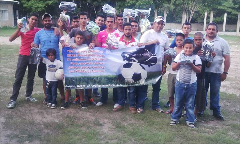 60 Pair Soccer Shoes Donated to Oropoli Community