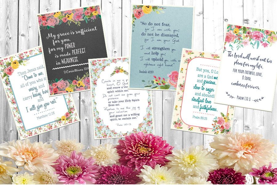 Free Printable: Scripture Encouragement Cards