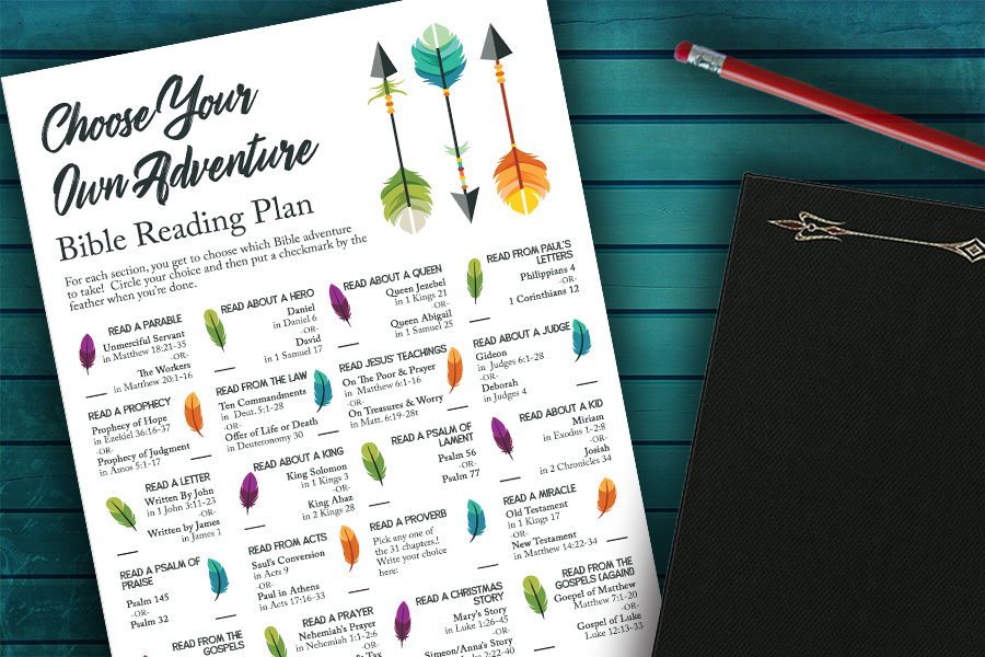 Choose Your Own Adventure Bible Reading Plan for Kids (Free Printable)