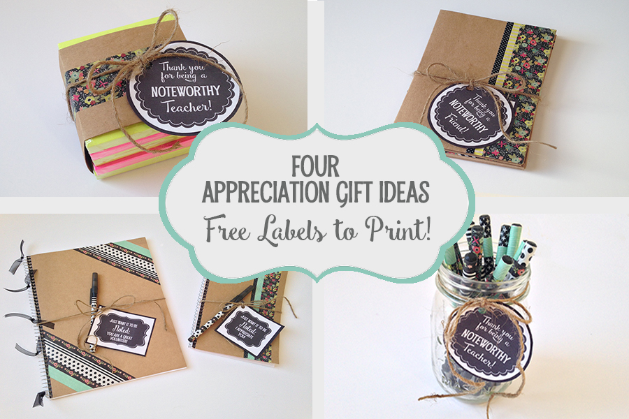 "4 ""Noteworthy"" Appreciation Gift Ideas: Free Printable Gift Tags"