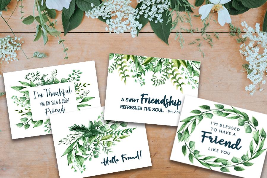 Friendship Encouragement Cards