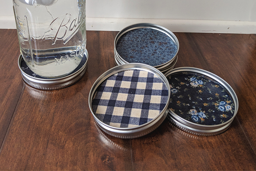 Mason Jar Lid Coaster Tutorial