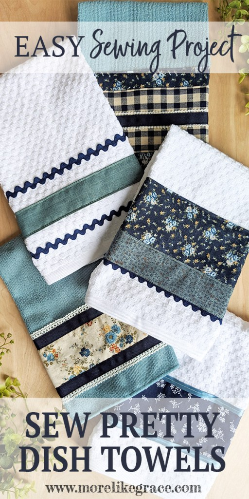 Sew Pretty Dish Towels | More Like Grace