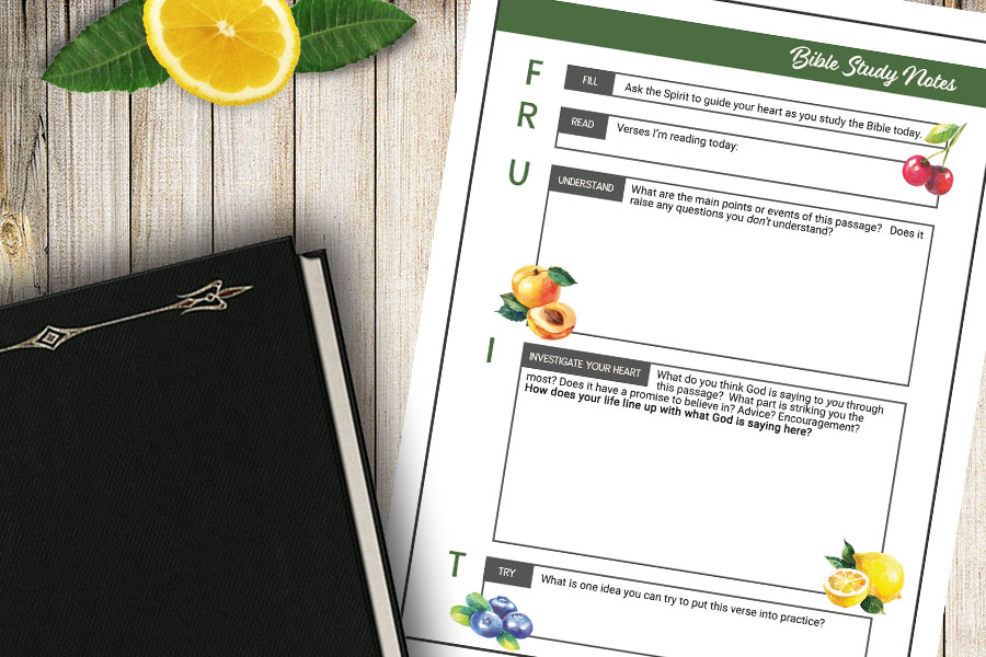 """FRUIT""  Bible Study Method – Free Printable"
