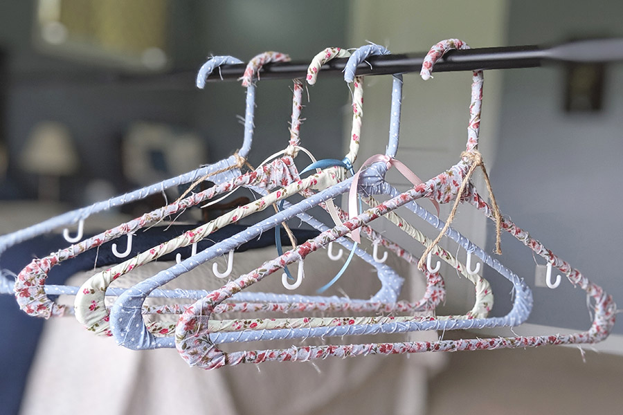 Fabric-Covered Vintage Hanger Tutorial