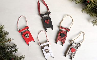 Popsicle Stick Sled Ornaments: With Plaid Washi Tape