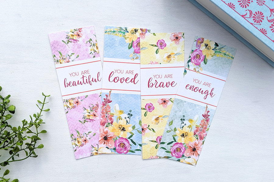 Free Printable Floral Bookmarks