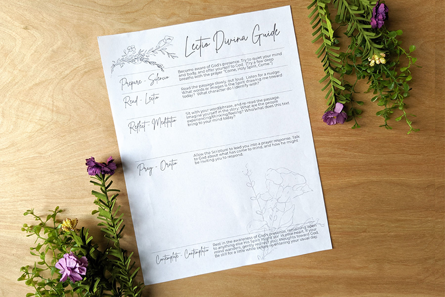 Lectio Divina Guide – Free Printable