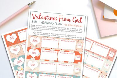 """Valentines From God"" Bible Reading Plan for Kids – Free Printable"