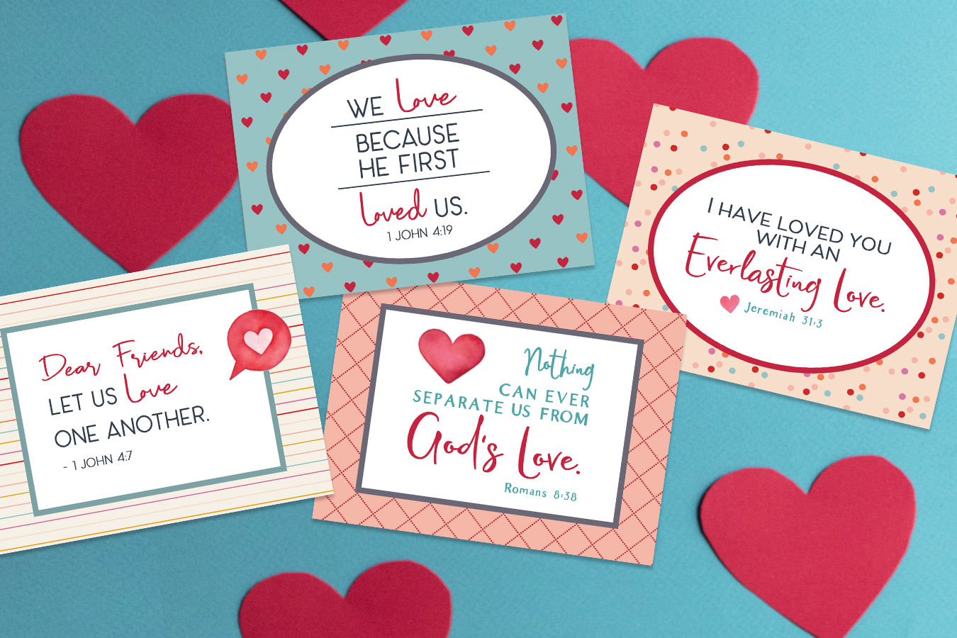 Free Printable Scripture Cards about God's Love