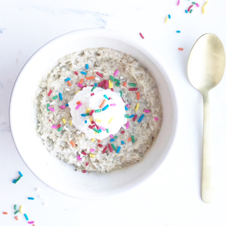 cake batter oatmeal