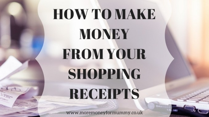 makimake moneyfrom your shopping receipts