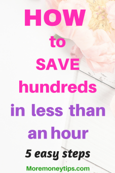 How to save hundreds in less time