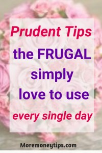 Prudent tips the frugal simple love to use every single day